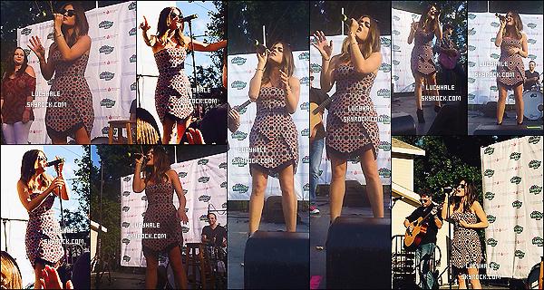16/11/2014 : Toujours au T.J. Martell Foundation Family Day, Lu' a performé quelques chansons. (S. City)Lulu laisse tomber la jacket pour nous montrer sa belle robe en entière. J'aime toujours autant, ça lui va bien ! Pas de vidéo..