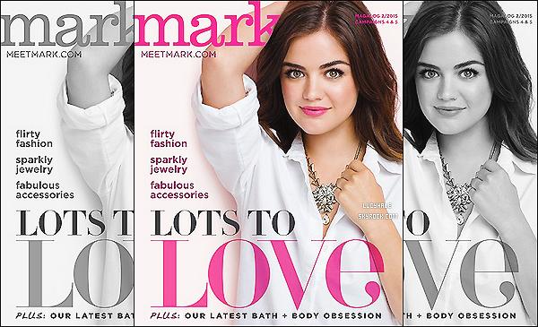 En tant qu'égérie, Lucy fait une nouvelle fois la couverture pour le magazine Mark. | FEVRIER 2015.