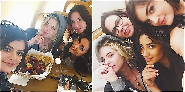 13/04/2015 : Instagram - Lucy Hale en compagnie de Ashley, Shay & Marlene King en direction de New York.   Les filles ont voyagées jusqu'à New York pour assister au Gala de ABC Family pour la nouvelle saison de Pretty Little Liars. Top.. !