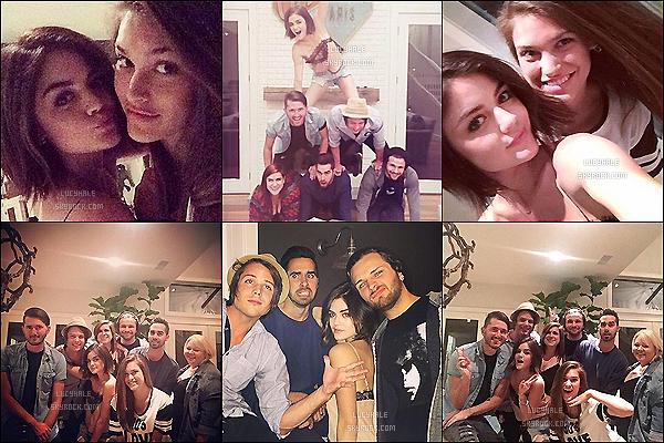 17/04/15 : Lucy, son ex Joel, sa coloc' Madison et des amis ont fait une petite soirée ensemble chez Lulu et Madi. Ils ont tous l'air de passer une super soirée ! On voit beaucoup Joel et bien moins Adam en ce moment.. Y a-t-il de l'eau dans le gaz ?