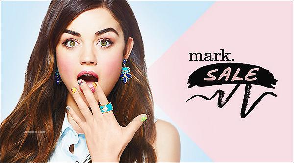 Découvrez une nouvelle photo pour la campagne de Mark dont Lu' est toujours l'égérie. Avis ?  La photo est très jolie, Lucy est très mignonne, comme on l'aime. Les couleurs douces vont très bien à notre brunette. J'aime trop !