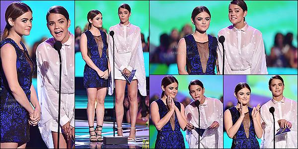 16/08/2015 : Miss Hale et son amie Maia Mitchell ont présenté un prix ensemble lors de la cérémonie.  Les deux font un très beau duo, Maia porte une jolie tenue également. J'aimerais bien les voir plus souvent ensemble, elles sont  toutes mimi !