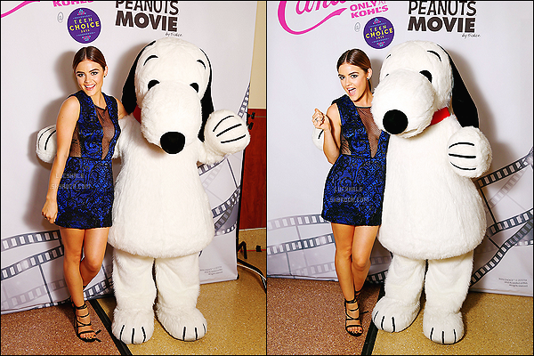 16/08/2015 : Avant les TCA, Lucy a été aperçue le sourire aux lèvres dans le quartier de Studio City, LA.  Plus : Deux nouvelles photos du Photobooth Candie's des Teen Choice Awards viennent de sortir. Lucy pose à côté d'une grosse peluche. Mimi !