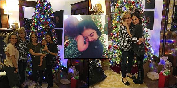 24/12/2015 : La veille de Noël, comme la plupart d'entre nous, Lucy était entourée de sa famille. (LA)  Que de bonne humeur dans cette famille, c'est trop mignon. Top ! J'en profite pour adresser une pensée pour ceux qui sont seuls le jour de Noël. ♥