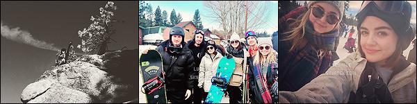 Lucy, son Anthony et ses amis se sont rendus à la montagne pour passer le jour de l'an ensemble et profiter de la neige. Toute la bande d'amis a l'air de bien s'éclater. Lu' profite avant de reprendre les tournages et on l'espère peut être celui de Fifty Shades Darker.