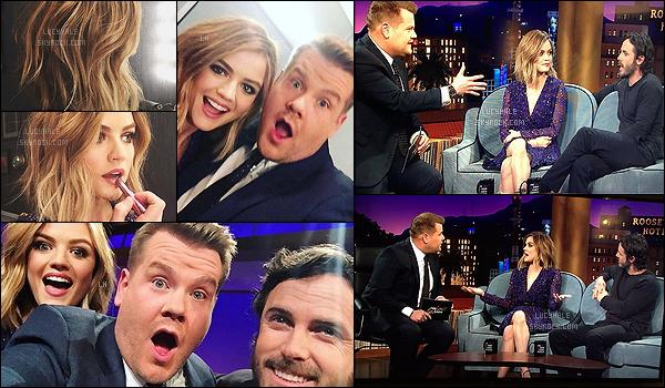25/02/2016 : Lu' était invitée sur le plateau du Late Late Show with James Corden avec Casey Affleck.  Miss Hale était vraiment très belle sur le plateau. Sa robe est ravissante et lui va à merveille. Pas de photos HQ.. Vidéo 1 - Vidéo 2 - Vidéo 3.