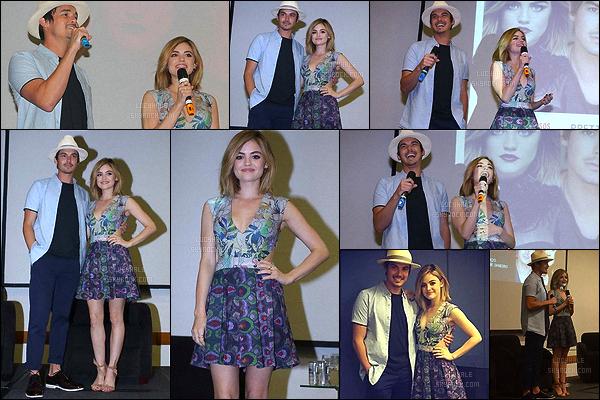 05/03/2016 : Lucy et Tyler ont assisté à la convention « Pretty Little Weekend » à Sao Paulo, Brésil.  Je trouve sa tenue très mignonne, elle est trop belle comme ça. On voit sur les photos à quelle point elle est adorable. J'adore la voir avec Tyler !