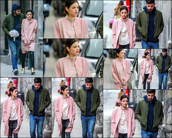 04/04/2017 : Lucy a été aperçue avec son chéri Anthony qui a du la rejoindre dans la ville de Montréal.  Il semblerait qu'il y ai plus de paparazzis à Montréal qu'à Atlanta. Et cela n'est pas pour nous déplaire ! Niveau tenue, c'est très joli. Un beau top !