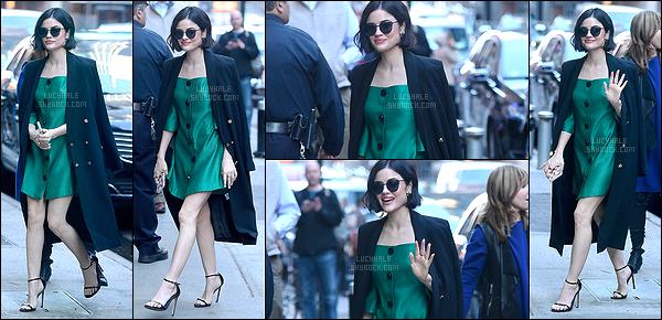 18/04/2017 : Les pretty little liars étaient présentes sur le plateau de Good Morning America à NY.  Lucy porte une robe verte canard. La couleur lui va vraiment très bien. De plus, on peut dire que les filles sont très gracieuses. Qu'en pensez-vous ?