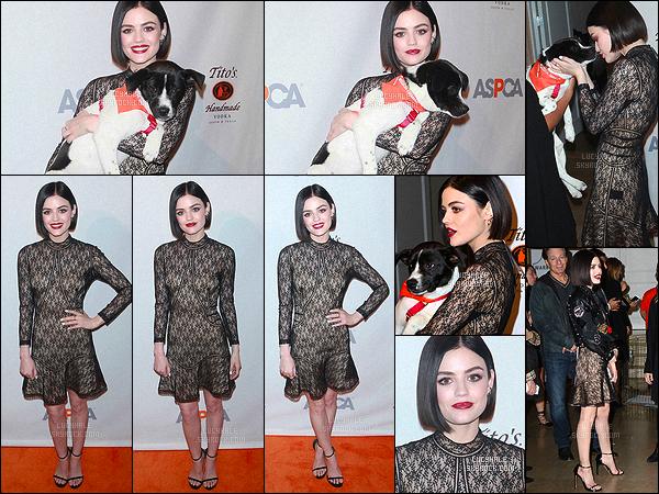 20/04/2017 : Lucy a organisé The ASPCA 20th Annual Bergh Ball au Plaza Hotel dans New York City.  Cette fois-ci, la miss est magnifique. Les photos avec le petit chien sont très mignonnes. On peut voir que notre Lulu a beaucoup de c½ur. Big top !