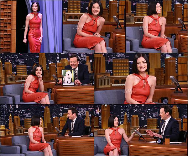 20/04/2017 : Pour finir son marathon promo, Lu' s'est rendue au Tonight Show Starring Jimmy Fallon.  Apparemment Lucy veut nous faire les montagnes russes du style : un coup top, un coup flop. Et là, c'est véritablement un top ! Magnifique.. !
