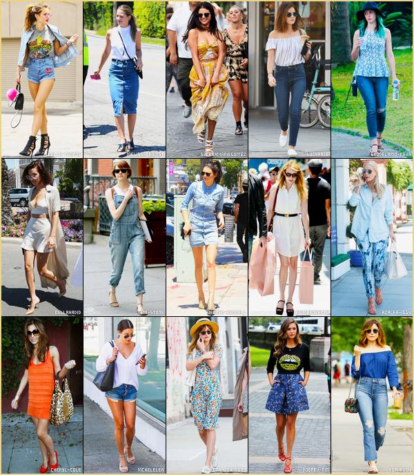SONDAGE : Quelle est la tenue d'été que vous préférez chez nos jolies célébrités ? Votez ici pour donner votre choix. Le but n'est pas de voter pour la personnalité mais bien pour la tenue qu'elle porte. -  Le montage et le sondage ont été réalisés par Bella-Thorne.