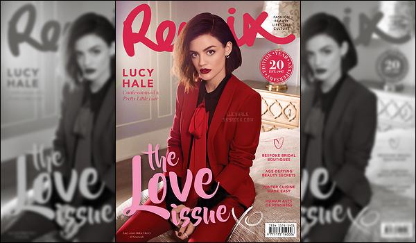 La splendide Lucy Hale fait la couverture du Remix Magazine du mois de juin. Quels sont vos avis ? Je trouve qu'elle fait très femme fatale sur cette photo. Le rouge est la couleur qui lui va le mieux et le cliché est très beau. Hâte de voir le reste.