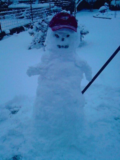 voila mon bonhomme de neige