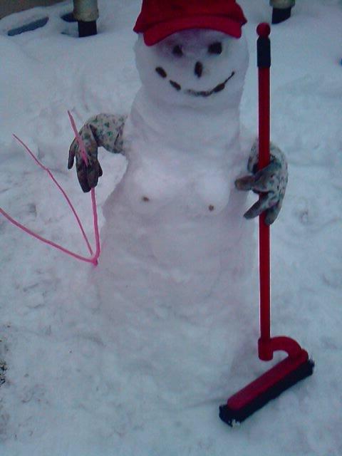 voila la femme de mon bonhomme de neige