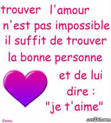 L'amour ..