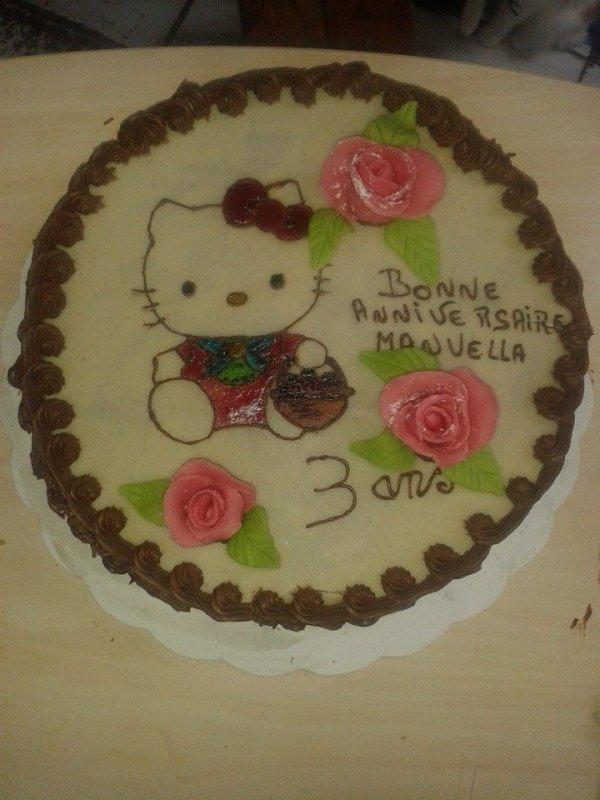 Gâteaux Hello Kitty Franboise Mousseline