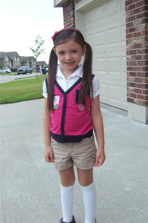 First Day of School.. waiting for the bus!