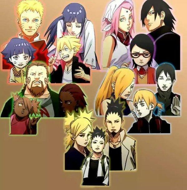 Toutes les familles à la fin de Naruto