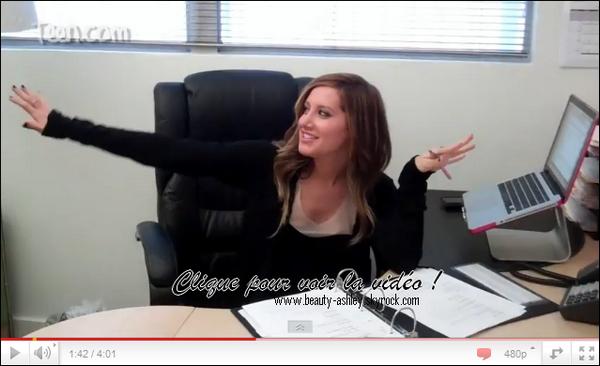 Vidéo <<Un jour dans la vie d'Ashley>>