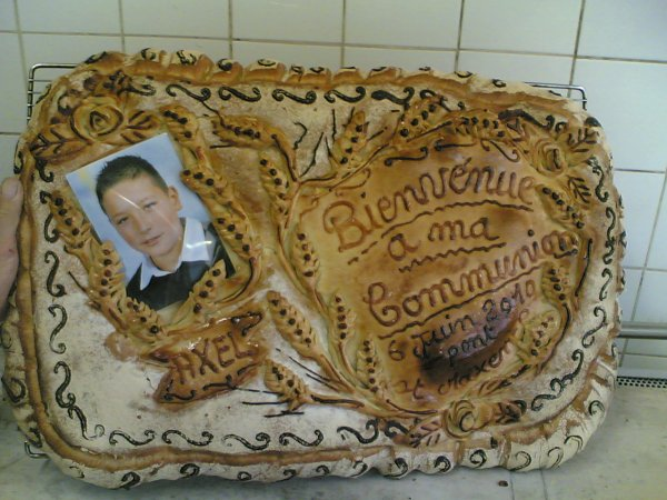 j ai fait un pain pour une comunion