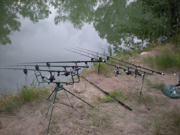rod pod en action de peche