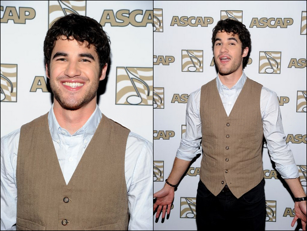 . 28 Avril                   Darren au ASCAP Pop Music Awards ! .