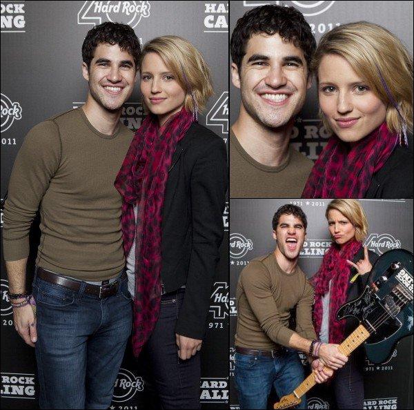 . 24 JUIN        Darren & sa co-star Dianna Agron au Hard Rock Calling ! .