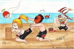 akatsuki a la plage