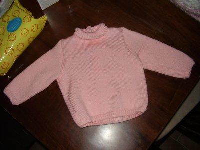 un petit pull pour ma petite fille