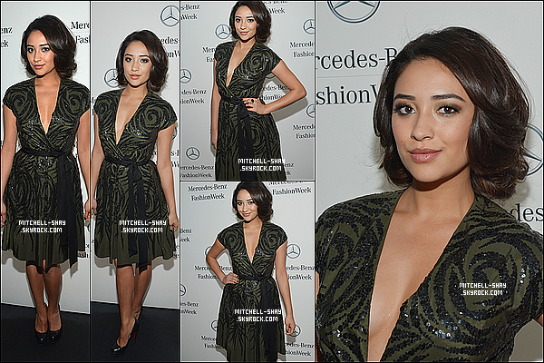 12/02/13 : Shay était au défilé de Mercedes-benz a l'occasion de la fashion week a New York.