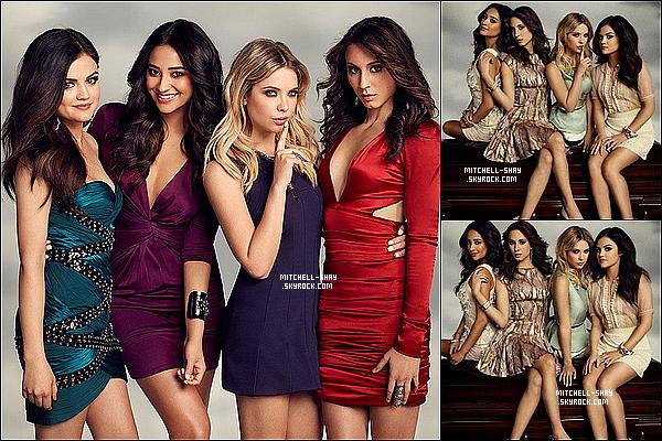 Shay fait la couverture du magazine Entertaiment & a réalisé un photoshoot accompagné du Ashley, Troian & Lucy.