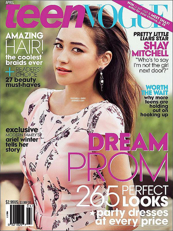 Shay fait la couverture du magazine Teen Vogue  & a egalement fait un photoshoots.