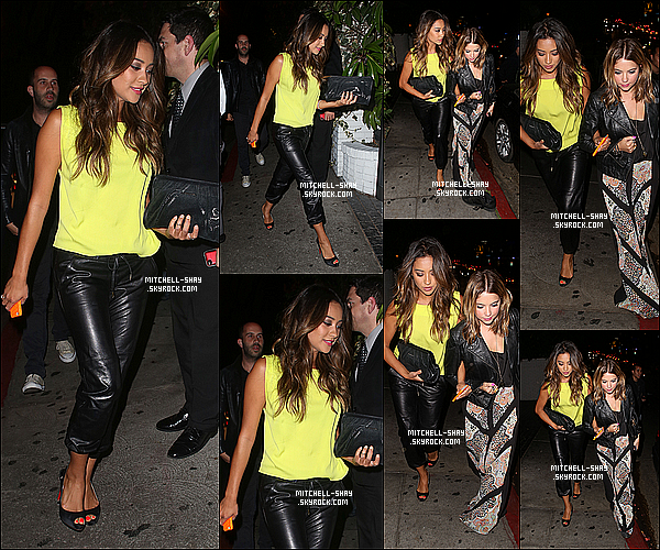 26/07/13 : Shay accompagné de  Ashley Benson ont été vu quittant le Chateau Marmont  a Los Angeles.