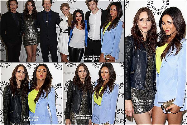 11/06/13 :  Shay était présente avec la majorité du cast de PLL  au Paley Center a   L.A.