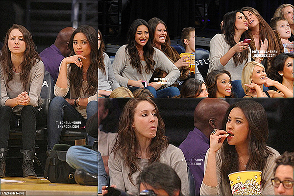 29/01/13 : Shay s'est rendue a un match de basket en compagnie de sa co-star Troian Bellisario.