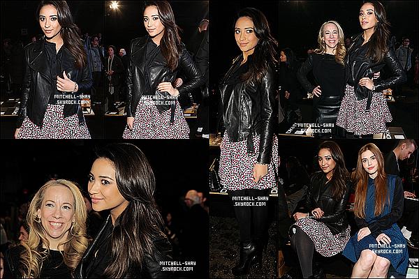 10/02/13 : Shay était présente au défillé chez Mercedes-Benz a l'occasion de la Fashion Week.