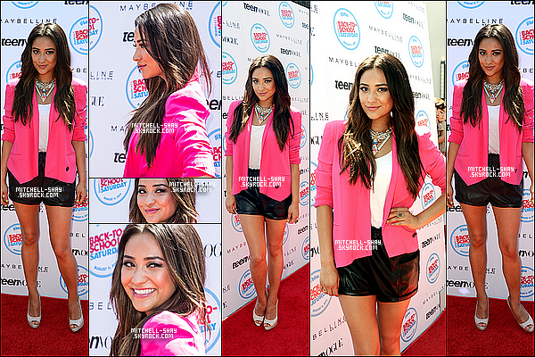 11/08/12 : Shay est allée au retour a l'ecole organisé par Teen Vogue au Grove.