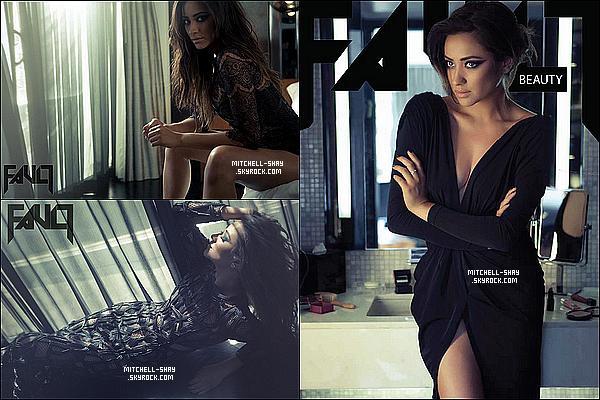 Photoshoot et couverture du magazine Fault.