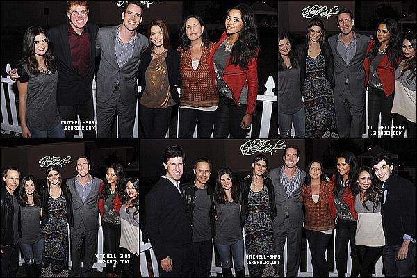 16/10/12 : Shay et la majorité du casting de PLL se sont rendue a la premiere de l'episode d'halloween de la serie.