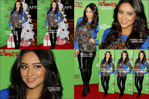 02/12/12 : Shay s'est rendue en compagnie de Lucy & Ashley au ABC Family 25th days of Christmas a NY.