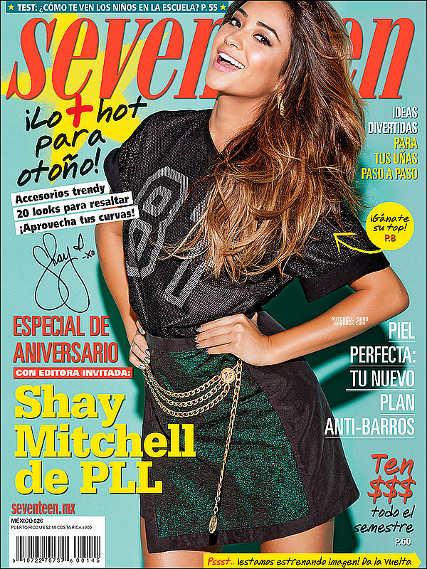 Shay fait la couverture du magazine Seventeen Latine qui sera visible lors du mois d'octobre.