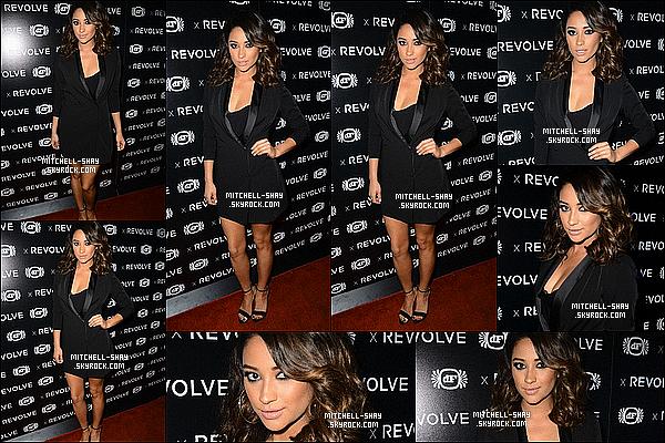 09/11/13 : Shay était présente a la fete en l'honneur du 10eme anniversaire de « Revolve » a Los Angeles.   Shay M. a décidé de profiter de la fin du tournage  pour sortir un peu et pour cela elle arbore une tenue simple et une nouvelle coiffure.