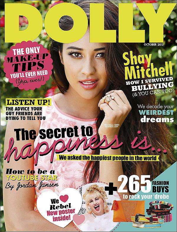 Shay est couverture du magazine Dolly qui sera visible lors du mois d'octobre..