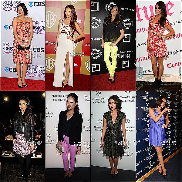 En cette fin d'année 2013, redécouvrez toutes les  tenues de    « Shay Mitchell  » lors de ses  évents.