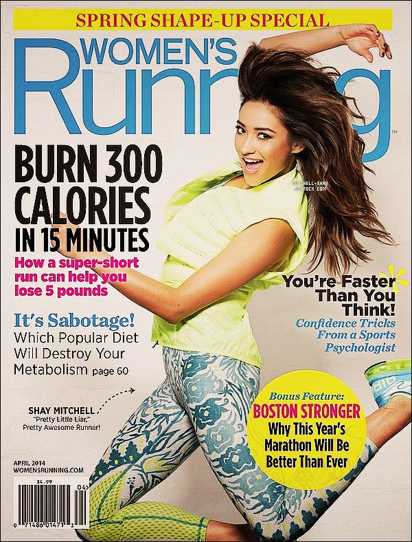 De toute nouvelle photo de Shay réalisée pour le magazine « Women's Runing  » pour Avril.