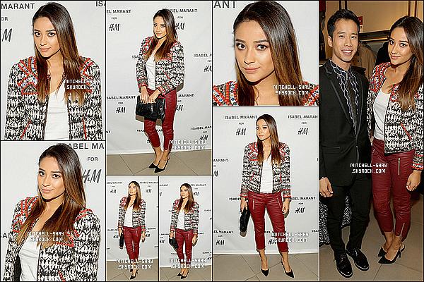 12/11/13 : Shay était  au « H&M Isabel Marant VIP  » organisé pour la nouvelle collection  en Californie.   Shay  était présente lors de cette évenement avec les habits de la nouvelle collection de Isabel Marant qui lui vont plutot bien je trouve.