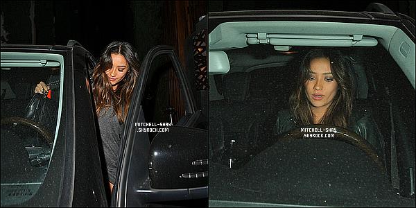 27/11/13 : Shay a été vu prendre sa voiture après avoir quittée le restaurant  Nobu    dans West Hollywood.   Très peu de chose a dire en ce qui concerne cette sortie, Shay était en noire et sa fait plaisir d'avoir le droit a quelques nouvelles d'elle.