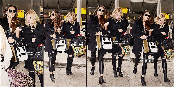 18/03/14 : Shay a été aperçu accompagné de sa co-star Ashley  B. au    JFK Airport    qui est a Los Angeles.    Shay et tout le casting de PLL a fait le déplacement pour ce rendre a NY pour la promo de la série. C'est partie pour une journée d'enfer.