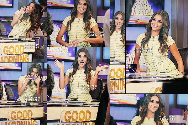 18/03/14 : Shay s'est rendue sur le plateau de l'émission   Good Morning America  situer dans New York.     Shay est tout simplement rayonnante dans cette jolie tenue jaune. Elle éblouie tout le monde par son naturel . Et votre avis a vous?